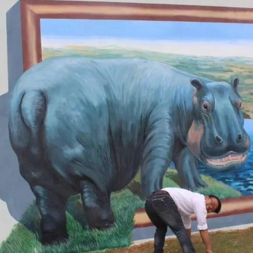 昆明市新治幼儿园3d墙绘