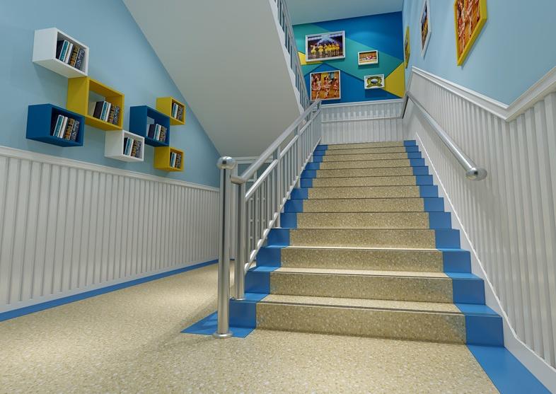 云南幼儿园装修楼梯、扶手和踏步等应符合下列规定: 1 楼梯间应有直接的天然采光和自然通风; 2 楼梯除设成人扶手外,应在梯段两侧设幼儿扶手,其高度宜为0.60m; 3 供幼儿使用的楼梯踏步高度宜为0.13m,宽度宜为0.26m; 4 严寒地区不应设置室外楼梯; 5 幼儿使用的楼梯不应采用扇形、螺旋形踏步; 6 楼梯踏步面应采用防滑材料; 7 楼梯间在首层应直通室外。  幼儿使用的楼梯,当楼梯井净宽度大于0.11m时,必须采取防止幼儿攀滑措施。楼梯栏杆应采取不易攀爬的构造,当采用垂直杆件做栏杆时,其杆件净距